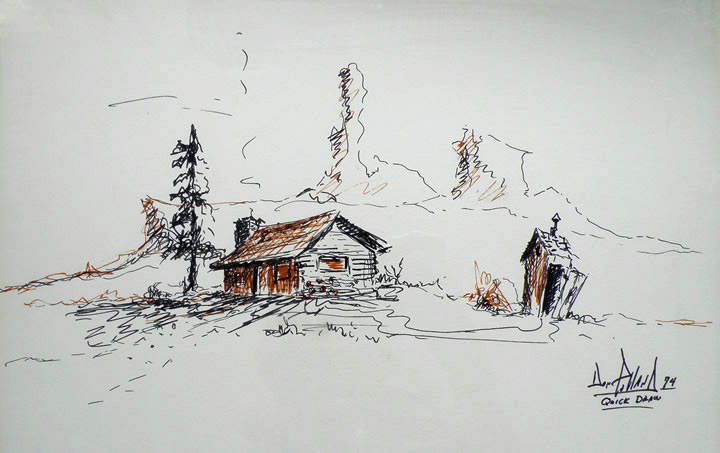 Quick Draw by Don Polland at the 1974 Phippen Museum Western Art Show and Sale
